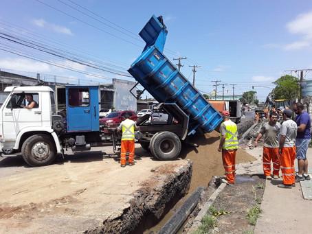 Ação emergencial na Bernardino Pastoriza segue durante a semana