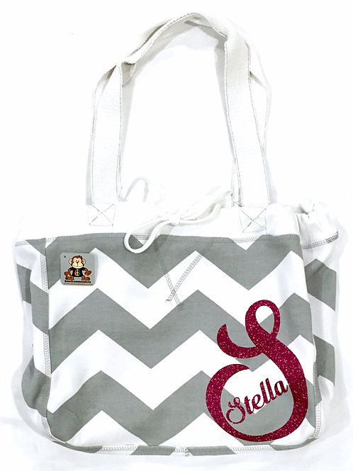 The Big Everything Tote w/Text, Name, Initial or Monogram + Small Name on Corner