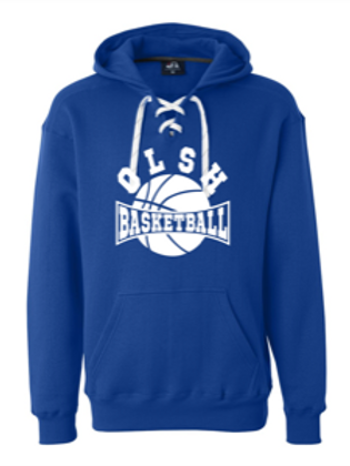 OLSH LACE UP PULLOVER HOODIE