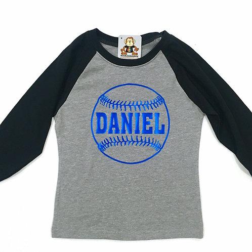 Boy's Raglan 3/4 Sleeve Shirt