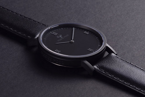 Absolute Eclipse - Minimalist Watch (Matte Black Case)