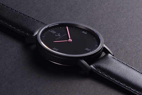 Luminous - Minimalist Watch (Pink Hands)
