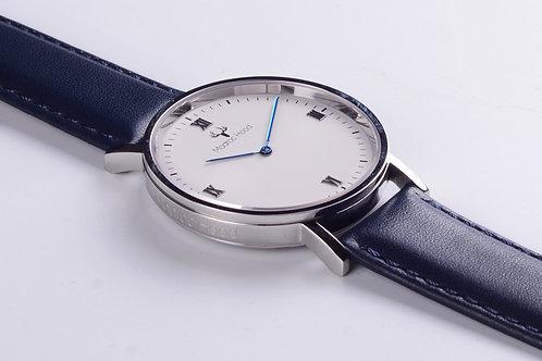 Singularity - Minimalist White Watch (Silver Case)