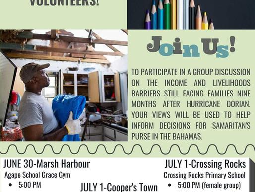 Samaritan's Purse seeking Volunteers