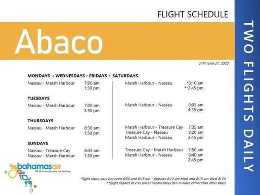 BahamasAir Flight Schedule until June 27th
