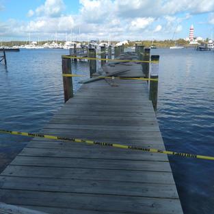 Sailing Club Dock Under Repairs