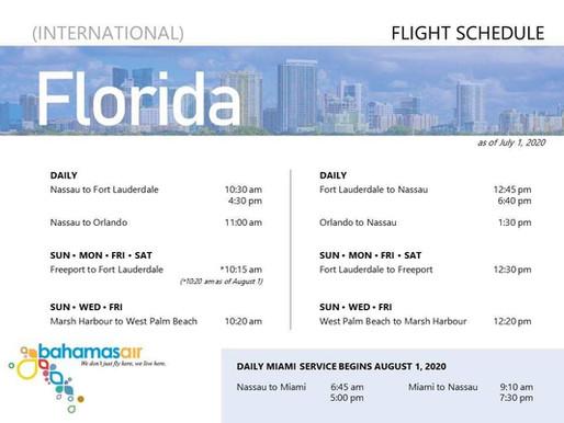 BahamasAir Florida Summer Schedule