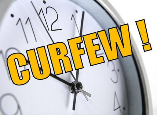 Breaking: Curfew times updated