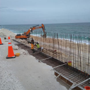 Dune Road Under Construction