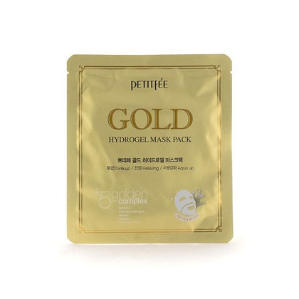 Гидрогелевые маски для лица с золотом | Petitfee