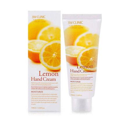 Крем для рук с экстрактом лимона  | 3W Clinic