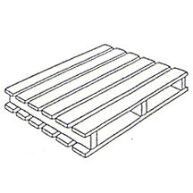 Wooden Pallet - 2 way entry