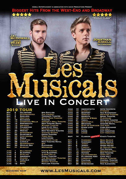 'Les Musicals' 2019 Poster with all date