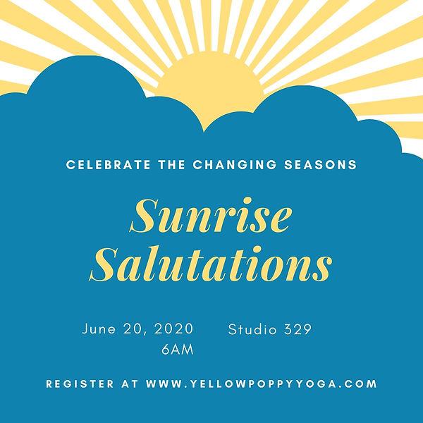 Blue and Yellow Sun Rays Breakfast Invit
