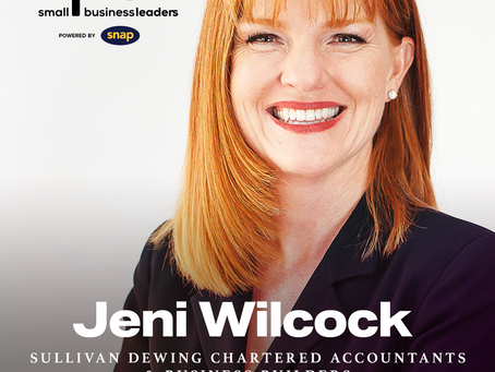 Jeni Wilcock announced as a Top 50 Small Business Leader in 2021