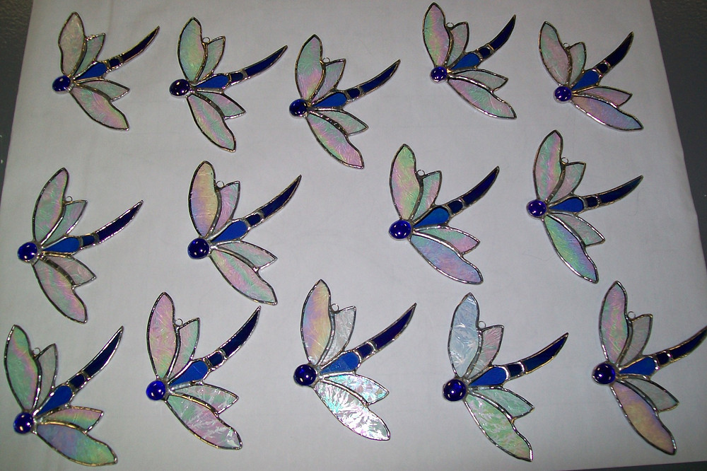 Dragonflies for a wedding party