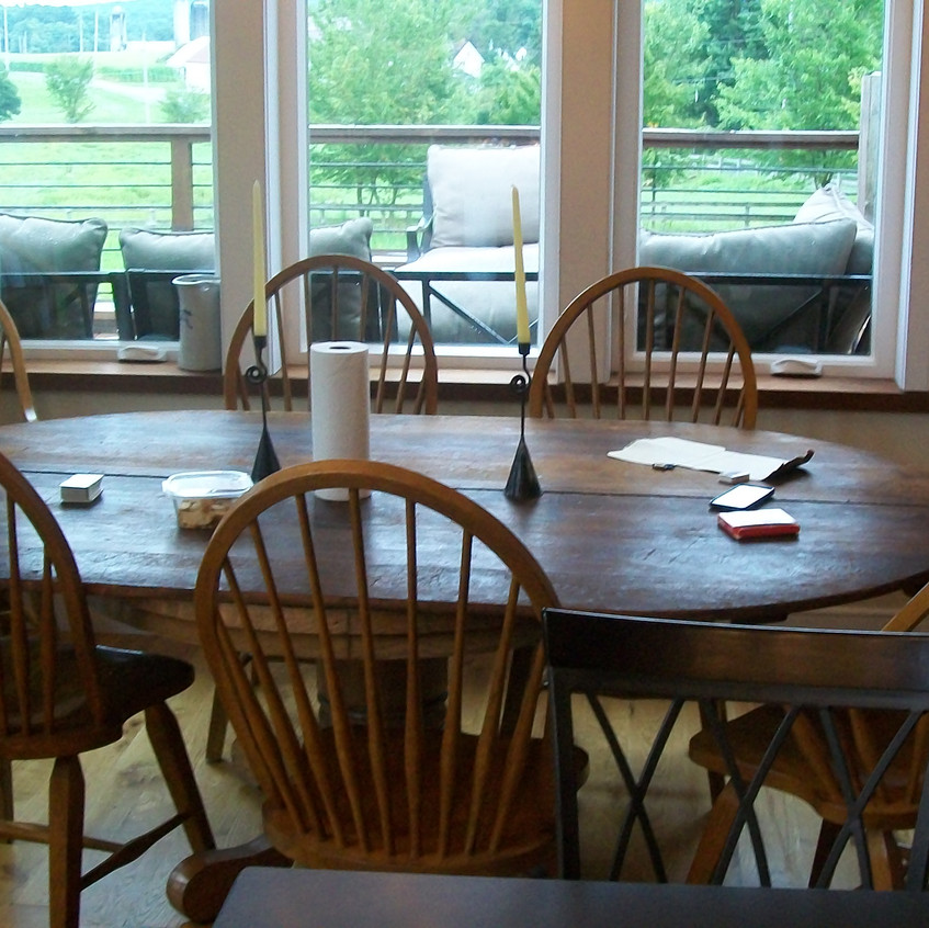 The new dining area