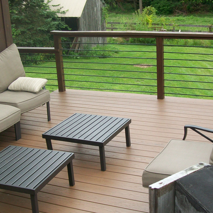 The new deck and furniture