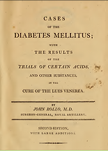 Cases of the Diabetes Mellitus: With the Results of the Trials of Certain Acids, and Other Substances, in the Cure of the Lues Venerea
