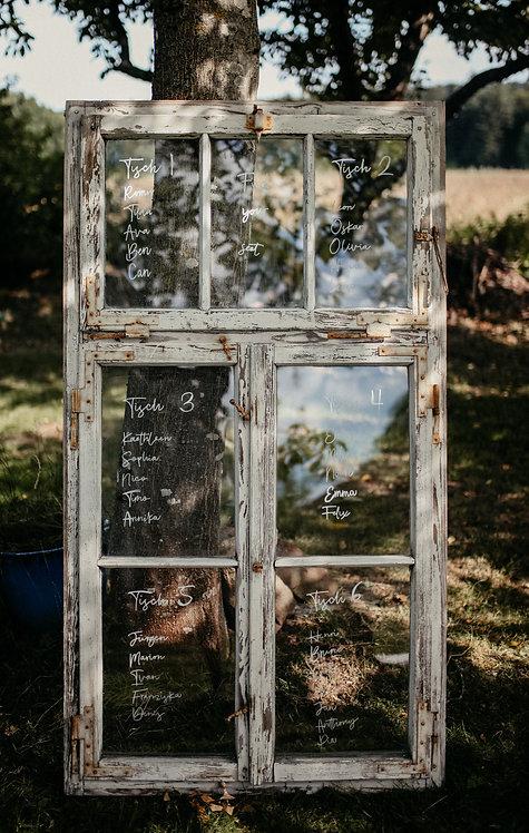 Antikes Holzfenster