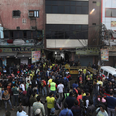 43 Dead In Fire At Luggage Factory In New Delhi.
