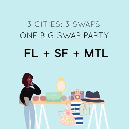 3 Cities, 3 Swaps, One Big Swap Party.