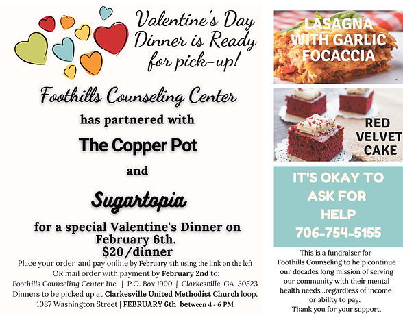 Foothills Counseling Center Valentines D
