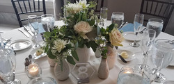 White Flower Table Setting