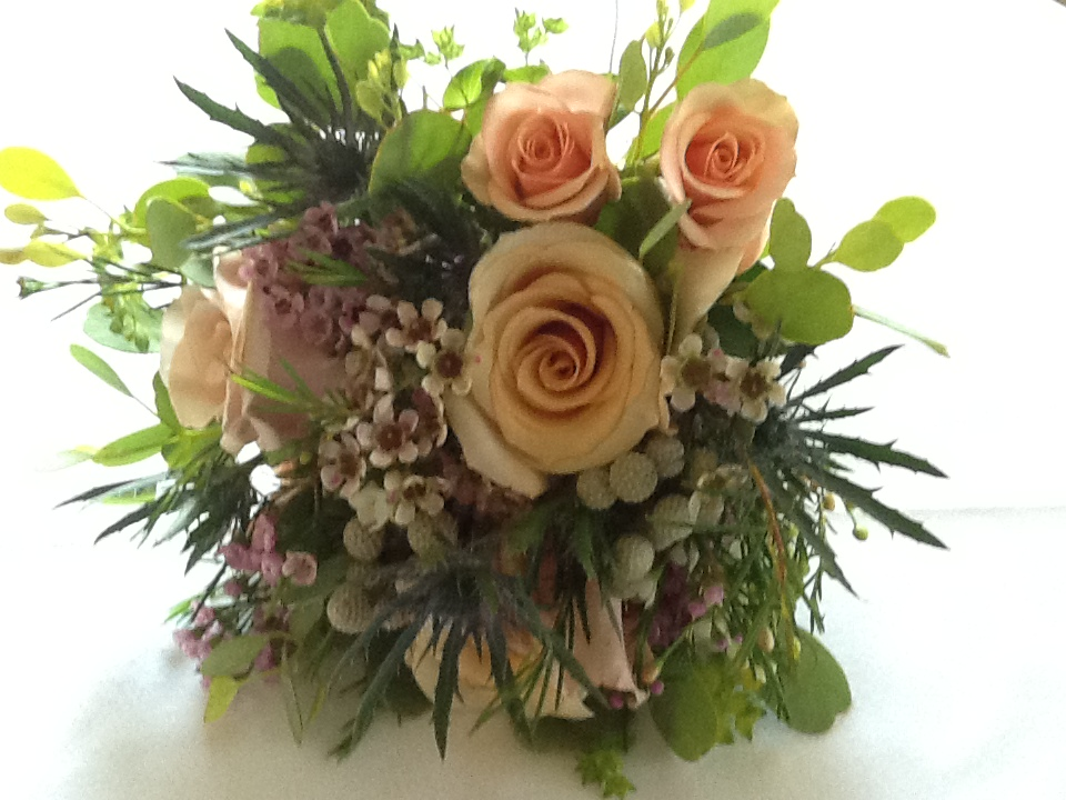 Peach Rose Arrangement