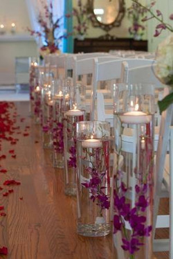 Floating Candles & Rose Petals