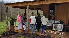 People attending an wedding venue open house event. Wedding Flower Designs, Athens, Ga