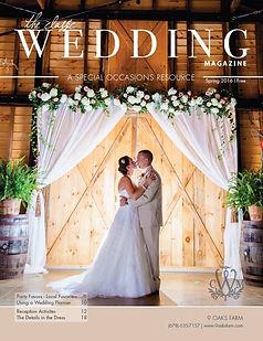 Wedding couple on cover of The Classic Wedding Magazine. Wedding Flower Designs Athens, Ga