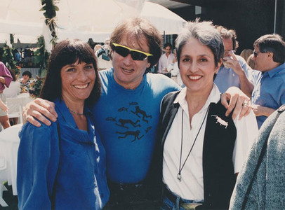 Mimi with Joan and Robin Williams