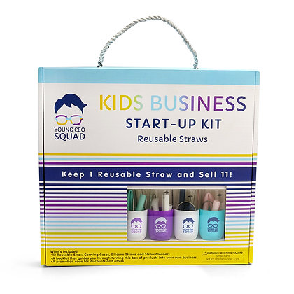 Young CEO Squad Business Start-Up Kit: Reusable Straws
