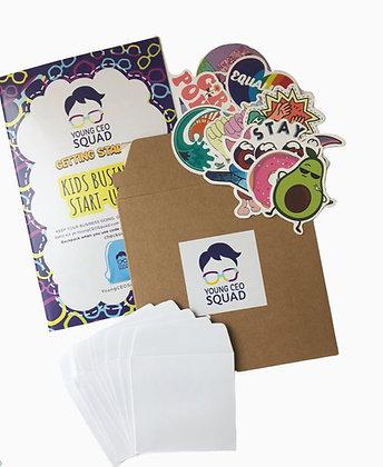 50 Vinyl Stickers: Kids Business Start-Up Kit