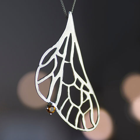 Wing Pendant with Citrine