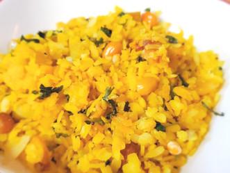 Poha (Savory Rice Flakes)