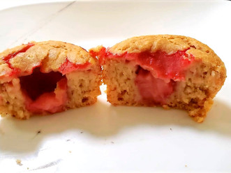 Lemon-Strawberry Marble Muffins!