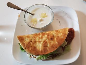 Pita Bread Sandwich + Honey Yogurt