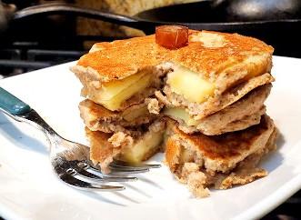 """Apple """"Fritter"""" Pancakes"""