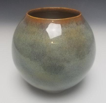Moon Jar with Light Brown Lip