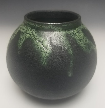 Black Clay with Green Texture