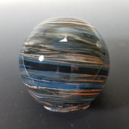 Small Agateware Porcelain Vase