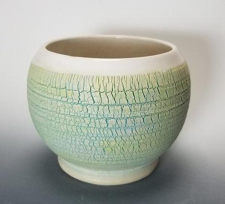 Light Turquoise Crackle Vase
