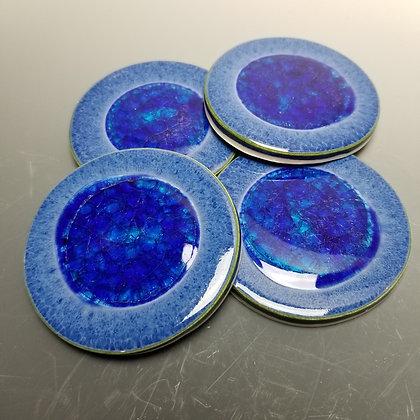 Blue/Green Glass and Blue Gaze Coasters