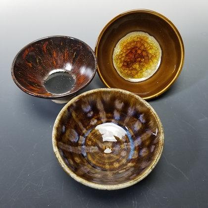 Small Bowls, Glitter,Yellow Glass or Pattern