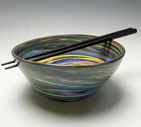 Agateware Porcelain Rice/Noodle Bowl