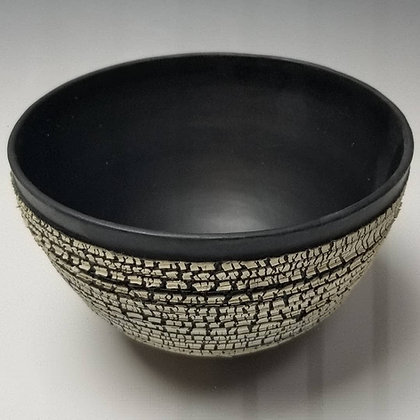 Black Porcelain Crackle Bowl