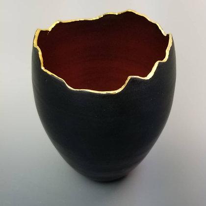 Gold Luster Rim  Vase