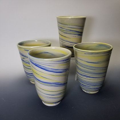 Porcelain Agateware Tumblers _ Sold Individually